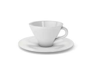 Vector White Cup Mug Isolated Background