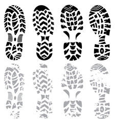 footprint vector set