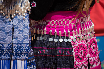 Traditional Hill Tribe Silver ornaments.