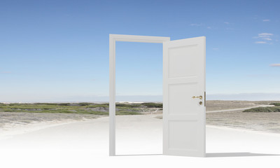 Opened door to somewhere