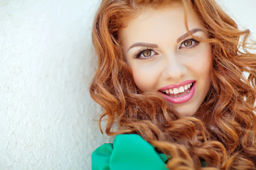 portrait of a Beautiful red hair woman