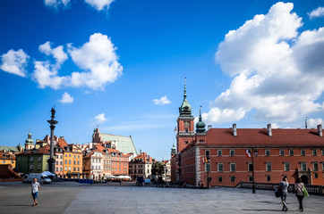 Street view of Central part of Warsaw