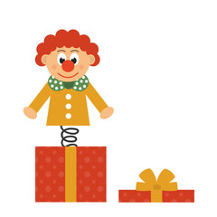 clown and present box