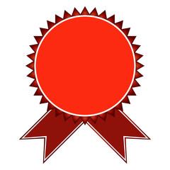 Retro badges in red tones