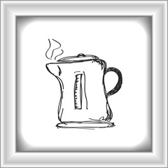 Simple doodle of a kettle