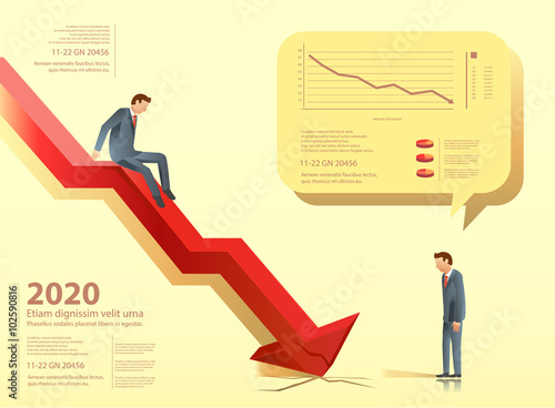 the business failure investment loss illustration for idea of  business approach to communication for business  graphic design and vector  eps 10
