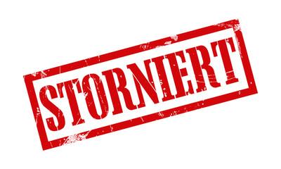 storniert