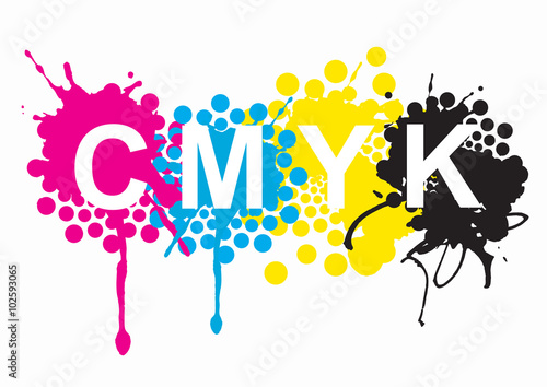 Cmyk Print Colors Cmyk Cyan Magenta Yellow Black Inks And Sign On