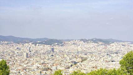 Panorámica de Barcelona desde Montjuic, Barcelona