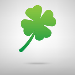 Leaf clover green icon