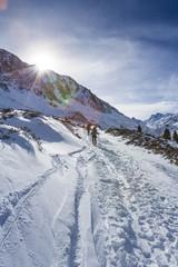 Österreich, Stubaier Alpen, Sellrain, St. Sigmund, Gleirschtal, Skitour zur Pforzheimer Hütte