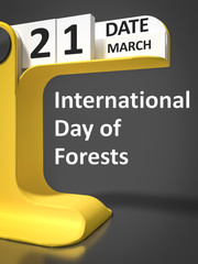 vintage calendar International Day of forests