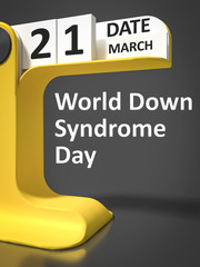 vintage calendar World Down Syndrome Day