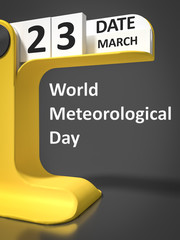 vintage calendar World Meteorological Day