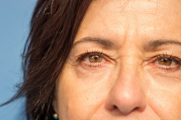 Close up eyes of a woman - caucasian people - people concept