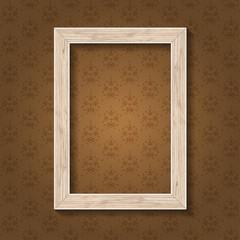 Wood tree frame for portrait white