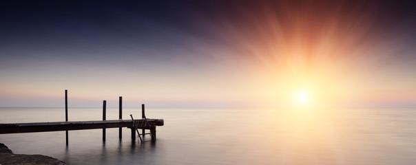 Sea sunset in Odessa, Ukraine