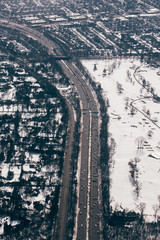 Aerial View of New York City After a Snow Storm