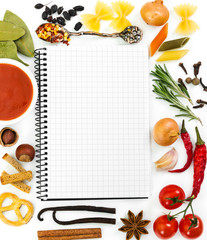 Food ingredients and recipe book