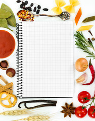 Notebook for cooking recipes and spices