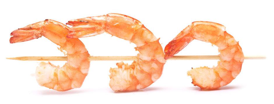 grilled shrimps on stick