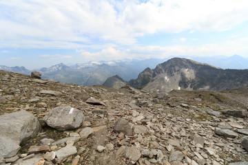 Mountain panorama in Hohe Tauern Alps, Austria