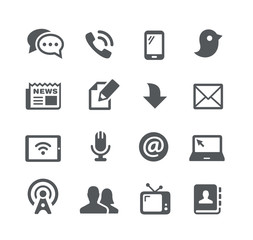 Telecommunications Icons - Utility Series