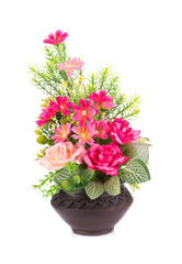 Plastic flower for decoration