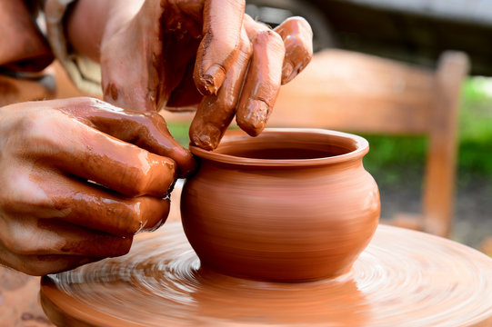pot from clay