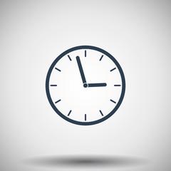 Flat black Clock icon