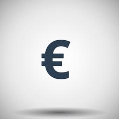 Flat black Euro icon
