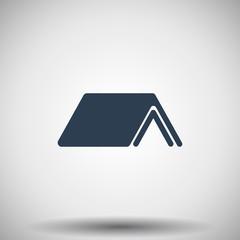 Flat black Roof icon
