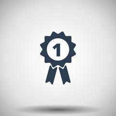 Flat black Prize Ribbon icon