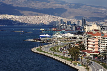 Panorama of Izmir (Turkey)
