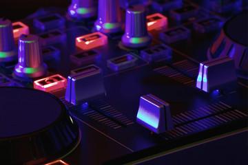 DJ- Pult mit Licht