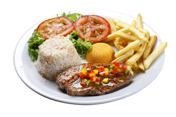 picanha potato with rice