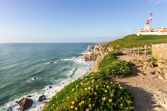 Cabo da Roca, extreme western point of Europe in Sintra.