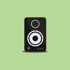 Flat Sound Speaker Vector