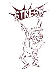 vector illustration of a business man oppressed under depression
