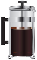 Glass coffee press