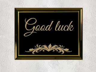 Good luck word on a wall