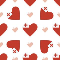 Tonga flag heart seamless pattern. Patriotic Tonga flag backgrou