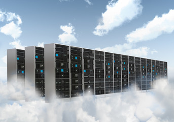 Wall Mural - Internet Cloud server cabinet