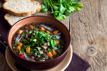 lentil soup (stew)