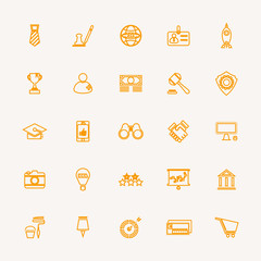 SME line icons yellow color