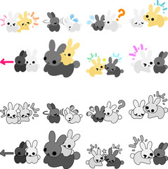 Icons of Pretty Little Rabbits