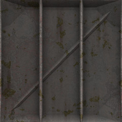 Dirty Cargo Panel #05 - A dirty rusted metal cargo panel for steampunk, industrial or science fiction use.