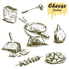 cheese fondue sketches
