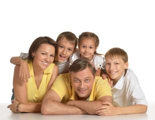 Pretty family portrait