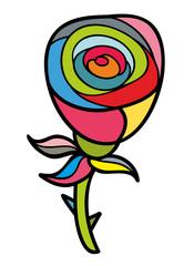 Artistic doodle rose.